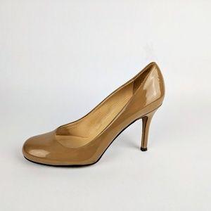 KATE SPADE Beige Patent Leather Heels